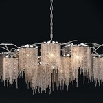 Victoria Oval Chandelier - Nickel /