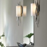 Brindille Left Wall Light - Bronze / Opal