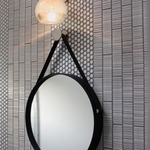Bubble Round Wall Light with Square Backplate -  /