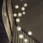 Bubble Ball 17 Light Round LED Pendant by Edge Lighting
