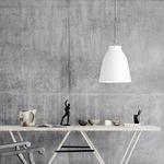 Caravaggio Pendant - Matte Chrome / White