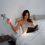 Libri Hardwired Bedside Wall Light -