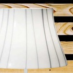 Chanel Floor Lamp - White / White / Black Filigree