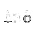 Sestessa Cabrio LED Direct/Indirect Pendant -  /