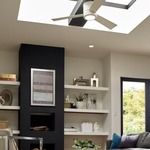 Clarity Max Hugger Ceiling Fan with Light -