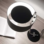 Club T Table Lamp - Satin Nickel / Black