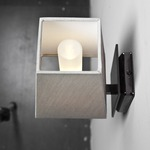 Quadra AP Mini Wall Sconce - Satin Bronze / White Cotton