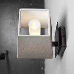 Quadra AP Mini Wall Sconce - Satin Bronze / White Cotton