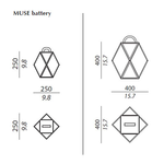Muse Battery Outdoor Lamp -  /
