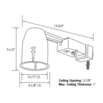 LVR316-R 3 Inch Halogen Non-IC Remodel Housing -  /