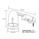LVR316-R 3 Inch Halogen Non-IC Remodel Housing -  /
