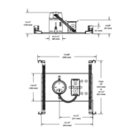 NW3000LE 3.5 Inch 42-50W ELV Non-IC New Construction Housing -  /