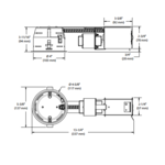 IT2000CM 4 Inch 42W MLV Shallow Remodel Housing  -  /