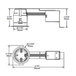 IT5000CE 2.5 Inch 20W ELV Non-IC Shallow Remodel Housing -  /