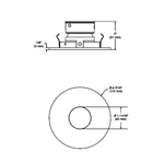 R3652 3.5 Inch Regressed Pinhole Trim -  /