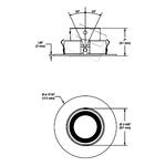 T3450D 3.5 Inch Smooth Adjustable Reflector Regressed Trim -  /
