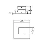 R3151K 3.5 Inch Regressed Pinhole Trim -  /
