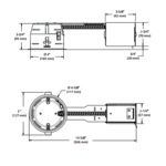 IT2000CE 4 Inch 42W ELV Non-IC Shallow Remodel Housing  -  /