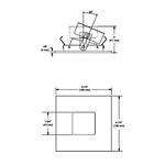 R3151W 3.5 Inch Adjustable Wall Wash Pinhole Trim -  /