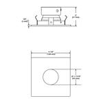 R3152 3.5 Inch Square Regressed Pinhole Trim -  /