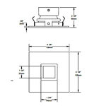 R3171 3.5 Inch Square Pinhole Trim -  /
