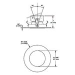 R3450D 3.5 Inch Round Regressed Adjustable Trim -  /