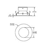 T3450 3.5 Inch Round Deep Regressed Downlight Trim -  /