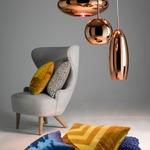 Copper Wide Pendant -