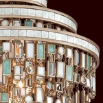 Dolcetti 7-Light Pendant - Silver / Shell / Crystal / Stainless Steel