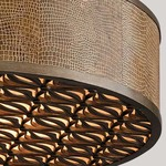 Mambo Oval Pendant - Mambo Bronze / Embossed Leather