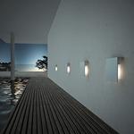 Corrubedo Outdoor Wall Lamp by Fontana Arte