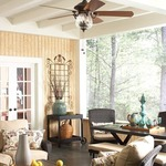 Crestford Ceiling Fan with Light by Fanimation