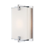 Cubism ADA Wall Sconce - Chrome / White