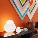 Daruma Table Lamp -  / White Glass