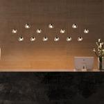 Dew LED Suspension - Chrome / Transparent