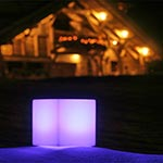 Dice Indoor/Outdoor Lamp by Space Lighting