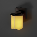 Montana Candlearia Square Melted Rim Wall Sconce - Dark Bronze / Amber