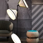 Drumbox Floor Lamp - Steel / Grey
