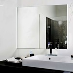 Twiggy Hinged D1 Lens Square Canopy Vanity Wall by Edge Lighting