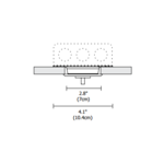 Cirrus Suspension 2 Inch Square Canopy with Junction Box - Satin Aluminum /