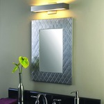 Alpha LED Wall Light - Satin Nickel / White