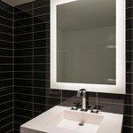 Sail LED Dimmable Mirror by Edge Lighting