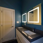 Plaza Small LED Mirror by Edge Lighting