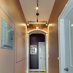 Bronze Monorail with Rebel Heads by Edge Lighting