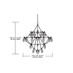 Crystal Galaxy Chandelier with Downlight -  /