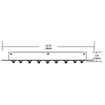 Fast Jack LED 20 Inch Round 17 Port Canopy -  /