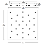 Fast Jack LED 24 Inch Square 26 Port Canopy -  /