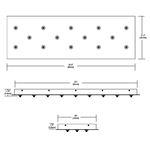 Fast Jack Linear 14 Port Canopy -  /