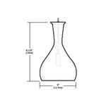 Fast Jack Crystal Vase Round Pendant -  /