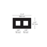 1X2 Square on Square Flanged Trim  -  /